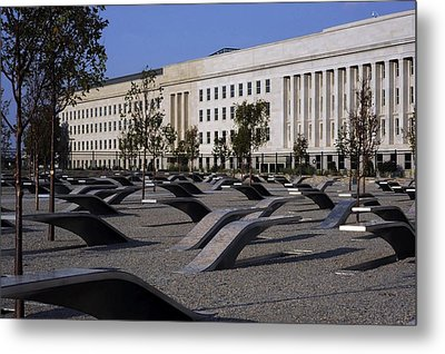 The Pentagon Memorial Honoring The 184 Metal Print