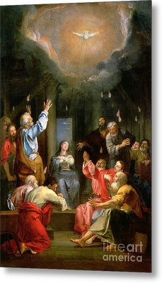 The Pentecost Metal Print by Louis Galloche