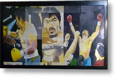 The People's Champ Metal Print by Lander Blanza