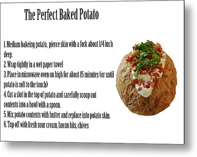 The Perfect Baked Potato Metal Print by Michael Ledray