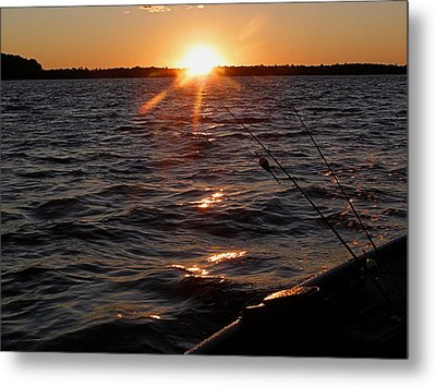 Metal Print featuring the photograph The Perfect Ending - After A Good Day Of Fishing by Angie Rea