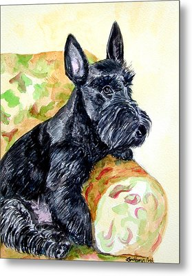The Perfect Guest - Scottish Terrier Metal Print