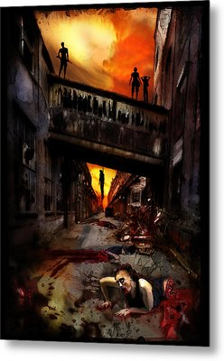 The Perimeter Guard Metal Print by Mandem