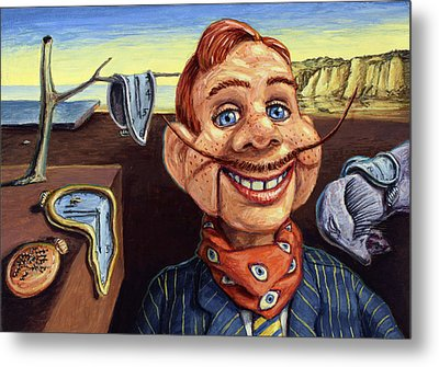 The Persistence Of Doody Metal Print by James W Johnson