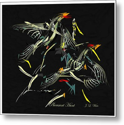 The Pheasant Hunt Metal Print by Jerry White