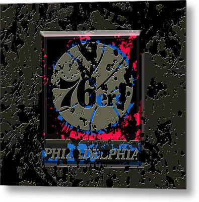 The Philadelphia 76ers 1b Metal Print