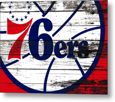 The Philadelphia 76ers 3e       Metal Print by Brian Reaves