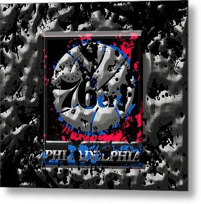 The Philadelphia 76ers Metal Print