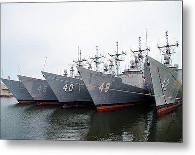 Metal Print featuring the photograph The Philadelphia Navy Yard by Bill Cannon