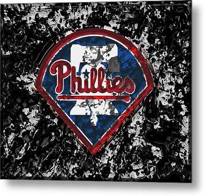 The Philadelphia Phillies 1a Metal Print by Brian Reaves