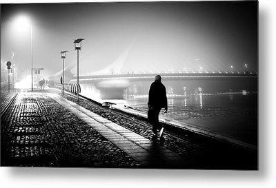 The Photographer - Dublin, Ireland - Black And White Street Photography Metal Print by Giuseppe Milo