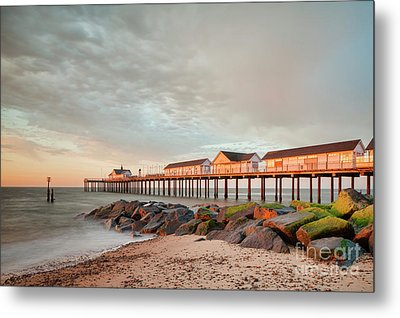 The Pier At Sunrise 2 Metal Print by Colin and Linda McKie
