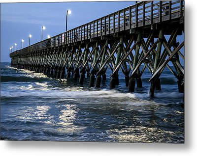 The Pier At The Break Of Dawn Metal Print by David Smith