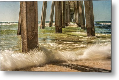 The Pier Metal Print by Phillip Burrow
