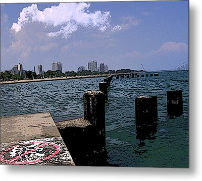 Metal Print featuring the photograph The Pier by Skyler Tipton