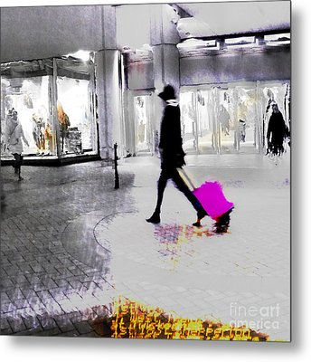 Metal Print featuring the photograph The Pink Bag by LemonArt Photography