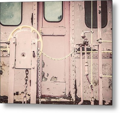 The Pink Caboose Metal Print by Lisa Russo