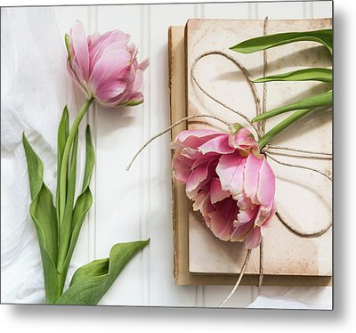 Metal Print featuring the photograph The Pink Tulips by Kim Hojnacki