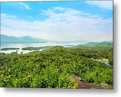 The Pinnacle View Of Lake George Metal Print