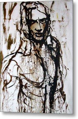 Metal Print featuring the painting The Pioneer by Jarmo Korhonen aka Jarko