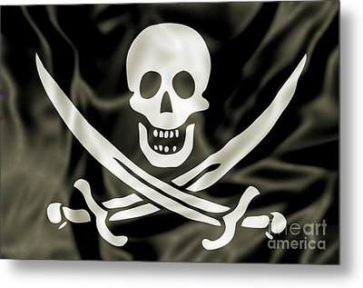 the Pirate Flag Metal Print by Benny Marty