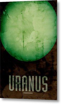 The Planet Uranus Metal Print by Michael Tompsett