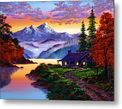 The Pleasures Of Autumn Metal Print by David Lloyd Glover