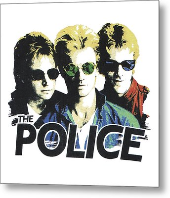 Metal Print featuring the digital art The Police by Gina Dsgn