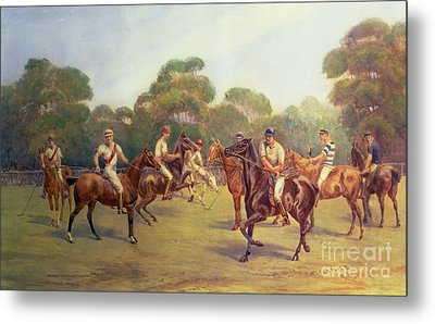 The Polo Match Metal Print by C M  Gonne
