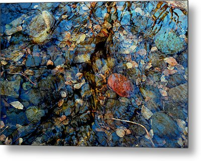 The Pond In Autumn Metal Print by Marilynne Bull