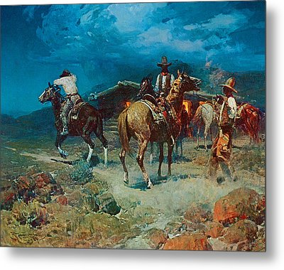 The Pony Express Metal Print by Frank Tenney Johnson