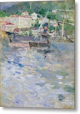 The Port At Nice Metal Print by Berthe Morisot