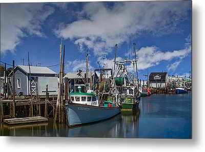 The Port Of Belford  Metal Print by Capt Gerry Hare