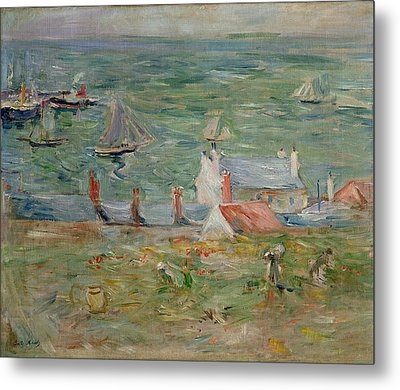 The Port Of Gorey On Jersey Metal Print by Berthe Morisot