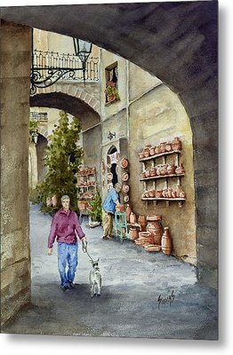 The Pottery Shop Metal Print by Sam Sidders