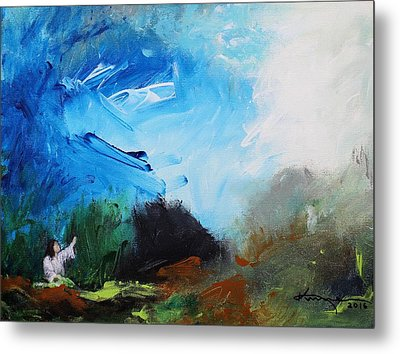 The Prayer In The Garden Metal Print by Kume Bryant