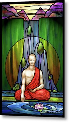 The Praying Monk Metal Print