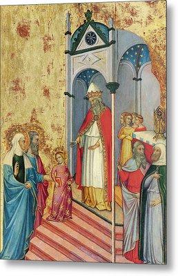 The Presentation Of The Virgin In The Temple Metal Print by Andrea di Bartolo