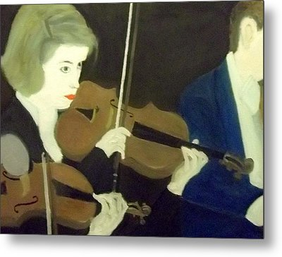 The Prettiest Violinist In The Orchestra Metal Print