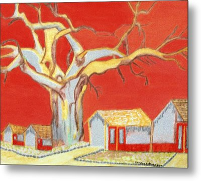 Metal Print featuring the painting The Pride Of The Village by Connie Valasco