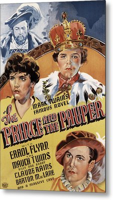 The Prince And The Pauper, Errol Flynn Metal Print by Everett