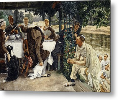 The Prodigal Son In Modern Life  The Fatted Calf Metal Print by James Jacques Joseph Tissot