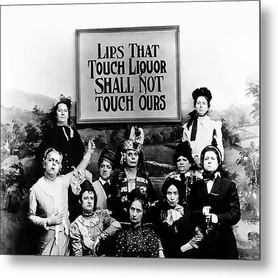 The Prohibition Temperance League 1920 Metal Print by Daniel Hagerman