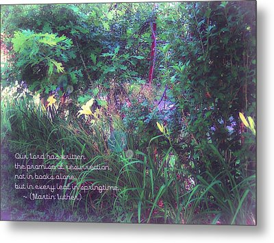 The Promise Spring Brings Metal Print by ARTography by Pamela Smale Williams
