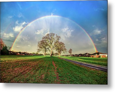 Metal Print featuring the photograph The Promise - Suburban Rainbow by Gregory Ballos