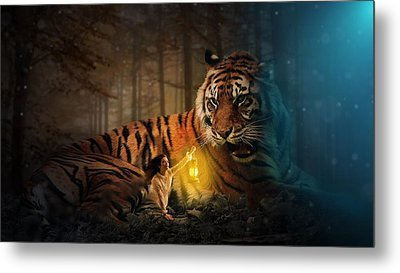 The Protector Metal Print by Davandra Cribbie