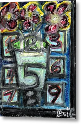 The Psychic Telephone Metal Print by Levi Glassrock
