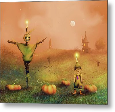 The Pumpkin Thief Metal Print