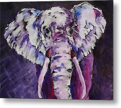 The Purple Bull Metal Print