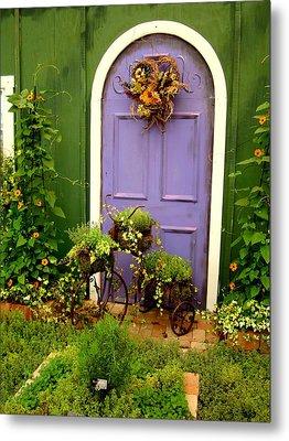 The Purple Door Metal Print by Michiale Schneider